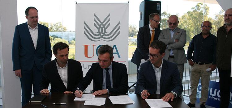La UCA firma el acta de replanteo de la pasarela de la ESI para que esté lista al inicio del curso 2018/19